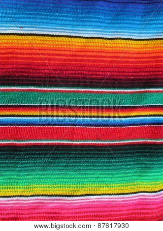Mexico stripe poncho serape background