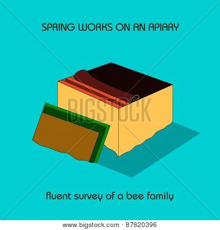 Fluent Survey Of A Bee Family (spring Work)