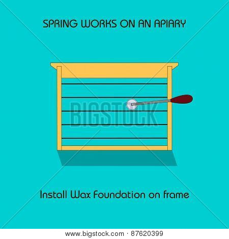 Install Wax Foundation On Frame (spring Work)