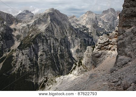 Vrata Valley in the Julian Alps in the Triglav National Park, Slovenia.
