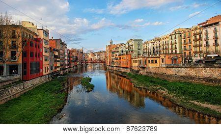 View Of Famous Catalonia City Girona