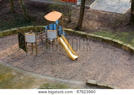 The Playground For Children With Slide