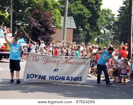 Young Americans at the 4th of July Parade in Harbor Springs, Michigan