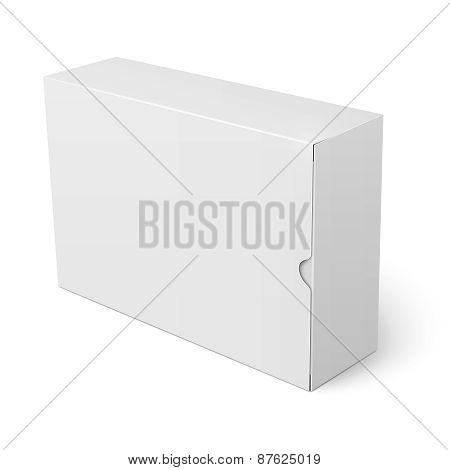White cardboard box template.