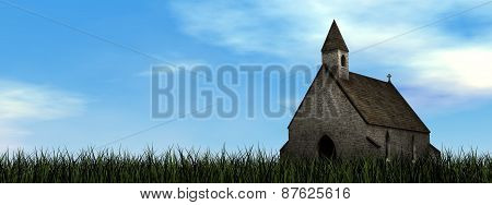 Small chapel - 3D render
