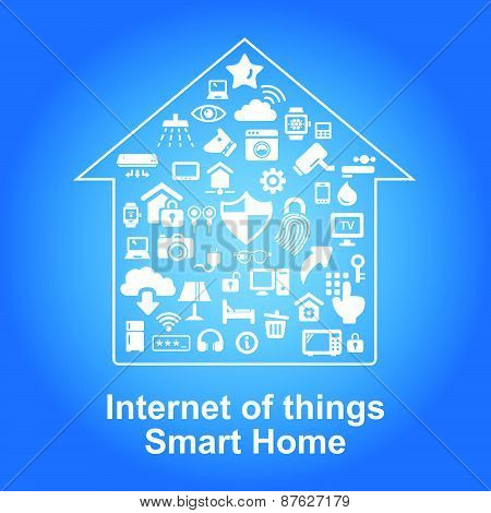Smart Home By Internet Concept