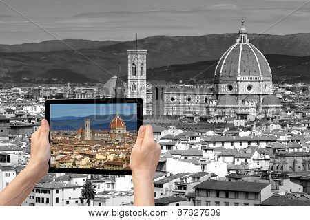 Travel Concept Of Florence (tuscany, Italy)