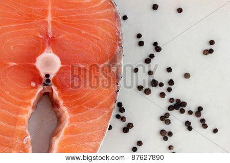 Salmon and black peper