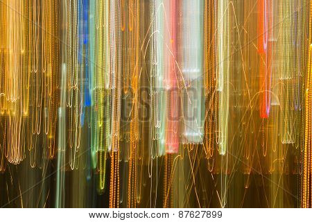 Abstract Movement Of Building Light