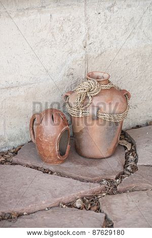 Rustic Terracotta Clay Pots