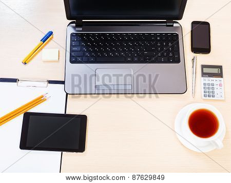 Business Still Life - Top View Of Working Place