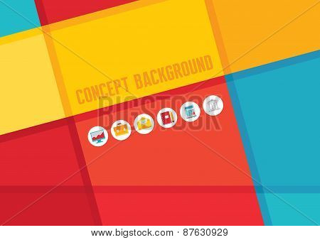 Abstract background with vector icons. Abstract vector pattern.