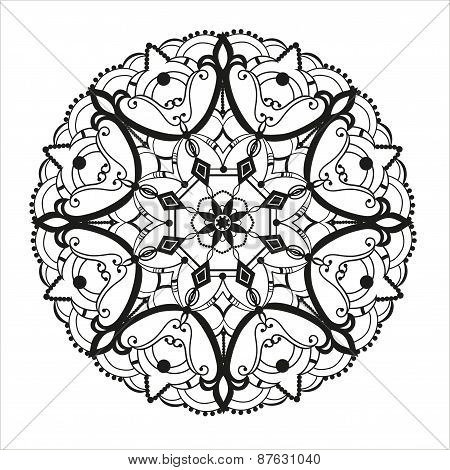 Circular Ornament In Ethnic Style