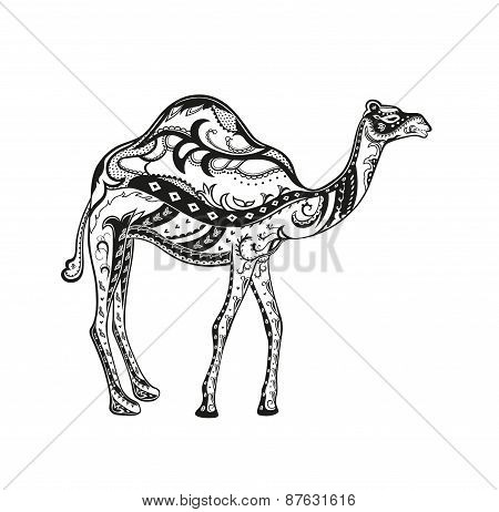 Ethnic Ornamented Camel