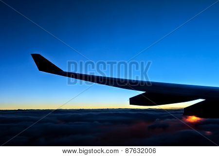 Sunrise View From Airplane