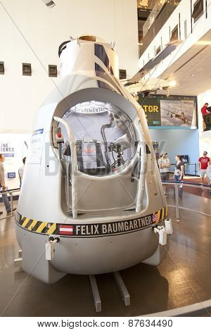 The Red Bull Stratos capsule