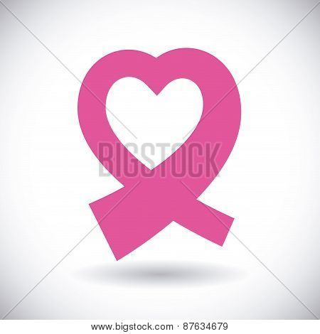 Breast cancer design, vector illustration.