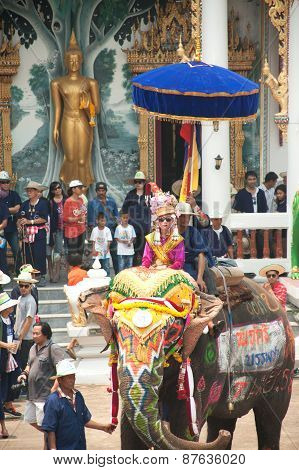 Si Satchanalai Elephant Back Ordination Procession