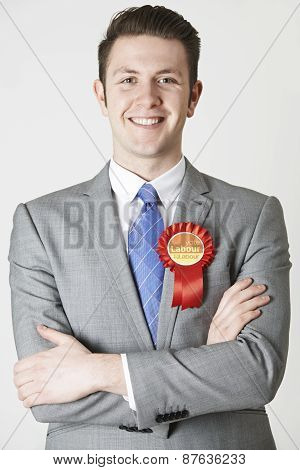 Portrait Of Labour Politician Against White Background