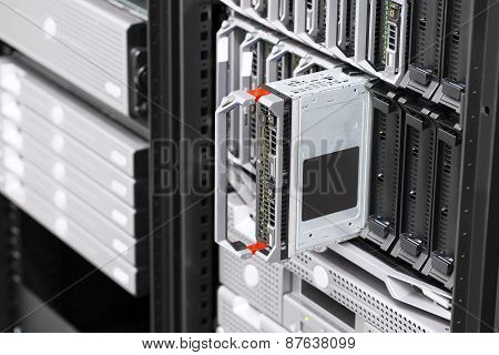 Blade server rack in large datacenter