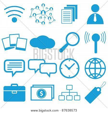 Webdesign flat symbols