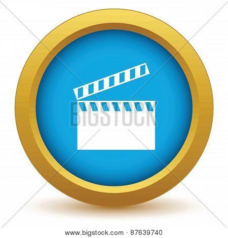 Gold cinema icon
