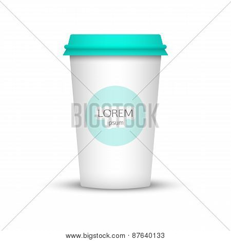 Blank coffee cup to represent your desing.