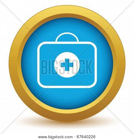 Gold doctor bag icon