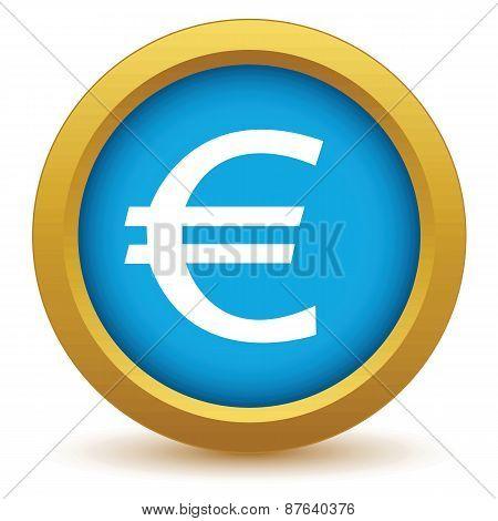 Gold euro icon