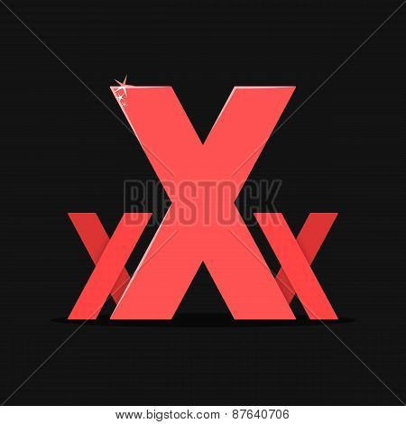 XXX colored vector sexy logotype isolated