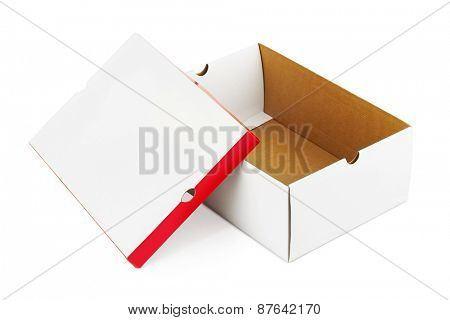 Opened box isolated on white background