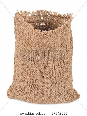 Empty burlap sack