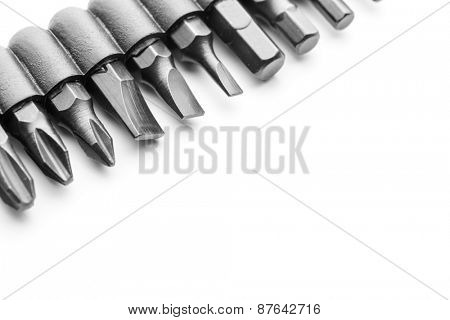 Macro of screwdriver bits