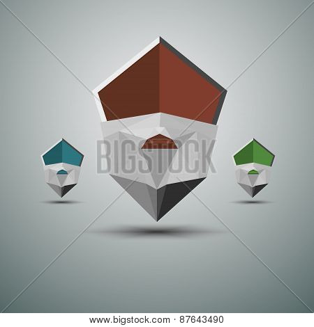 Abstract Pointers set. Illustration on white background for design
