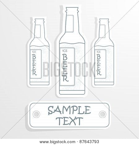 beer bottle cheers poster illustration