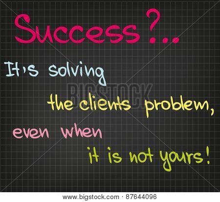 Success of customer service