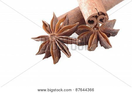 cinnamon stick and star anise spice