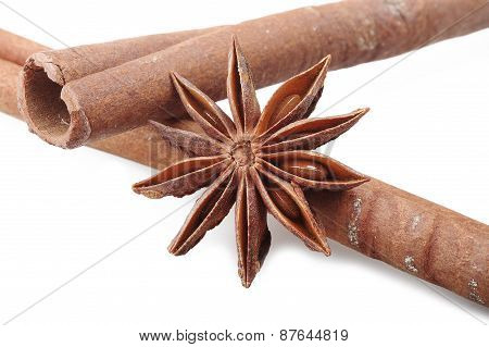 cinnamon stick and star anise