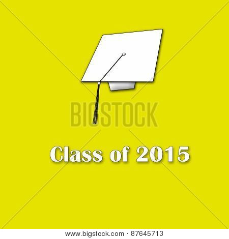 Class of 2015 White on Yellow Lg Single