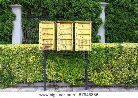 Mailboxes On The Street