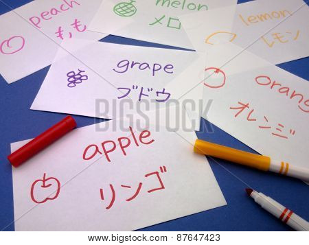 Making Language Flash Cards; Japanese