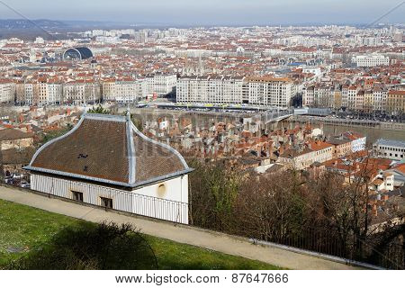Lyon city from fourviere hill