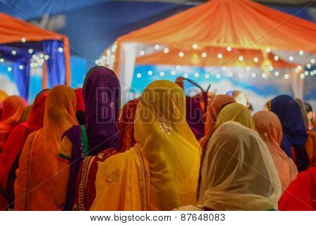 Devotee Sikhs Praying