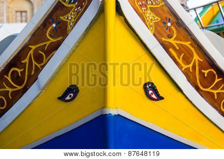 Malta Colored Fishing Boats