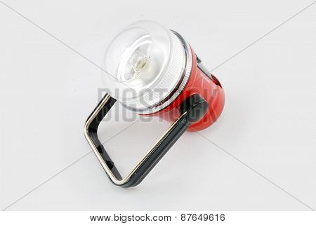 flashlight for camping with white background