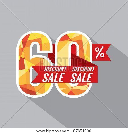 Discount 60 Percent Off.