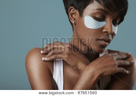 Skin Care Concept With An Eye Patches