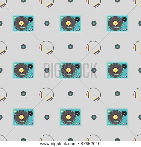 DJ booth and headphone pattern