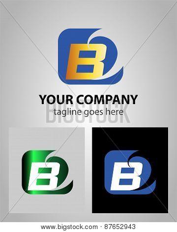 Alphabet icon - B logo