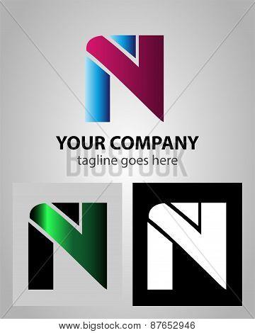 Alphabet icon - N logo